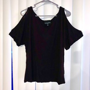 Cynthia Rowley Black Off Shoulder Top